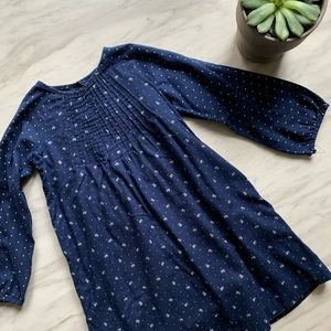 Gap blue cotton dress with front detailing.